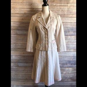 Nanette Lepore Striped Skirt Set